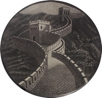 The Great Wall of China 8 3/4 inches diameter